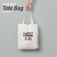 TOTE BAG BLACU + SABLON I'am not a Plastic Bag