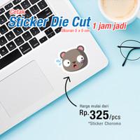 Cetak Stiker Label Die Cut Glossy / Matte