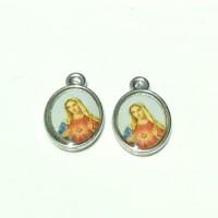 medali rosario hati kudus Maria kecil