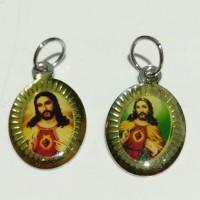 medali rosario hati kudus Yesus stenless
