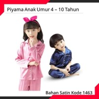 Paling Terlaku 4-10 Th Piyama Baju Tidur Anak Satin Tangan Pendek