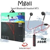 Headset Bluetooth 4.1 Mgall MT3 Super Bass Earphone Bluetooth