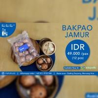 Dimsum Bakpao Isi Jamur Dan Ayam Frozen Halal ( 12 Pcs)