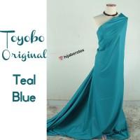 HijabersTex 1/2 Meter Kain TOYOBO ORIGINAL Teal Blue