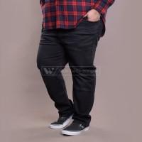Black Long Celana Jeans Big Size Jumbo XXL XXXL WGB