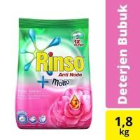 Rinso Molto Detergen Deterjen Bubuk Anti Noda Rose Fresh 1800g