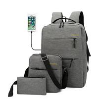 Tas Ransel 3 in 1 Set Anti Air USB Charger Waterproof Backpack Ready S