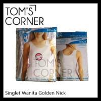 Singlet Wanita Golden Nick | Ketat | Non Renda | Panjang | Kaos Dalam