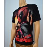 TERLENGKAP////// Jual Pakaian Cowok Pria Kaos Baju Superhero DEADPOOL