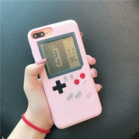 / 6 Casing Pelindung Bahan TPU Warna Pink untuk iPhone 8 / 7 s