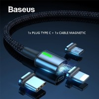 BASEUS ZINC MAGNETIC CABLE TYPE C USB DATA FAST CHARGING QUICK CHARGE