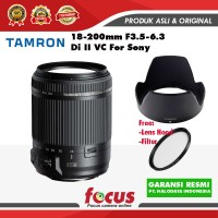 TAMRON 18-200MM Di II VC Lensa Kamera for Sony free Filter 62mm-RESMI