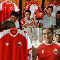 SH549 Jersey Persija Training Merah Lengan Putih Liga 1 2018 grade