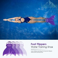 Fin/Kaki Katak Mermaid Anak Lucu untuk Belajar Berenang (Warna