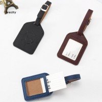 New Livecity Faux Leather Solid Color Luggage Tag Travel Suitcase ID