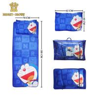 Kasur lipat Anak / Dewasa Flanel karakter Premium Uk 70 x 180cm - Doraemon, Biru
