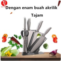 [Top Living] paket Pisau Dapur 6pcs/set