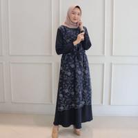Alma Dress Brukat Gamis Fashion Baju Hijab Kebaya Anak Remaja Modern
