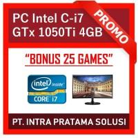"PC Core i7-8700 + RAM 16GB DDR4 + SSD + Nvidia GTx 1050Ti + LED 22"""