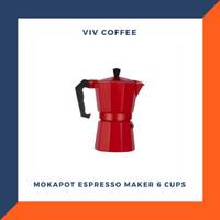 Coffee Maker Mokapot Espresso Coffee Maker 6cups - Merah
