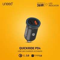 UNEED QuickRide Car Charger Qualcomm 3.0 with Power Delivery -UCCH04PD