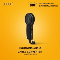 UNEED Audio Converter Lightning to Audio Jack 3.5 with iRing - UAT05i