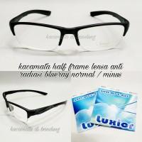 Kacamata frame half frame anti radiasi komputer dan hp normal/minus