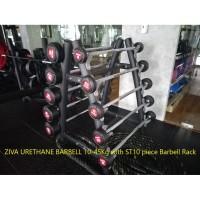 ZIVA SL Urethane Barbell 10-45Kg with racks
