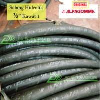 Selang Hidrolik ALFAGOMMA 1/2 Kawat 1 - ITALY QUALITY Hydraulic Hose
