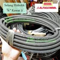 Selang Hidrolik ALFAGOMMA 1/4 Kawat 2 - ITALY QUALITY Hydraulic Hose