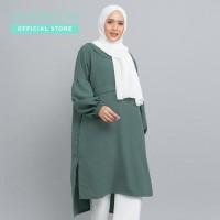 MOOIMOM Dress Muslim with Pleats & Peter Pan Collar