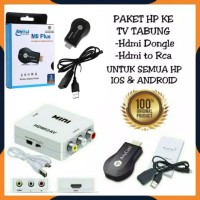 PAKET ANYCAST M9 PLUS + HDMI TO AV ALAT KONVERTER DARI HP KE TV TABUNG