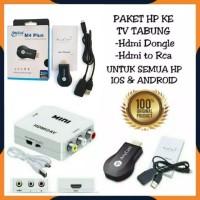 PAKET ANYCAST M4 PLUS + HDMI TO AV ALAT KONVERTER DARI HP KE TV TABUNG