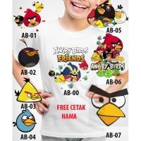 Kaos Baju tshirt anak Custom Angry Birds
