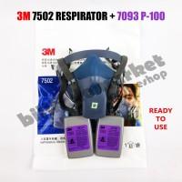3M 7502 Respirator + 3M 7093 Particulate Filter P100