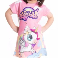 Dress Anak Perempuan Karakter Unicorn / Bahan Scuba / Fly Unicorn