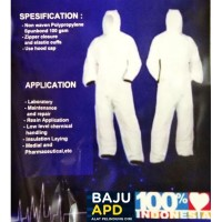 Baju APD 100 Gsm Anti Corona Hazmat Suit Pakaian Alat Pelindung Diri