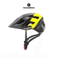 ROCKBROS TS39 Bicycle Helmet with Cap - Helm Sepeda - BLACK YELLOW