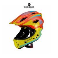 ROCKBROS TT-32 Full Covered Child 2 in 1 Helmet- Helm Anak - ORANGE