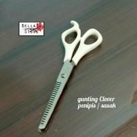 Gunting Potong Rambut Salon Gigi Clover / Gunting Sasak Penipis Rambut