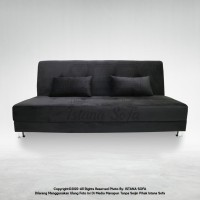 Sofabed / Sofa bed Lexie Suede Hitam