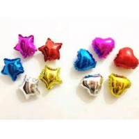 Balon foil love dan bintang 5 inch
