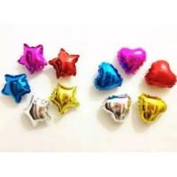 Balon foil love dan bintang 10 inch