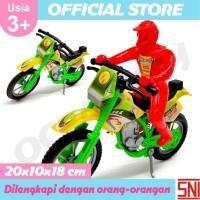 Ocean Toy Motor Cross + Orang Mainan Anak Multicolor OCT5703