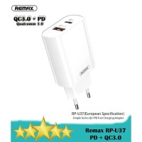 Remax RP-U37 Charger Jane Series Quick Charge 3.0+PD Fast Charging 18W