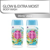 MARINA BRIGHTENING BODY WASH BOTOL 95 ML-GLOW & EXT.MOIST [95 ml/2pcs]