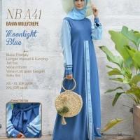 Original GAMIS NIBRAS NB A41 Moonlight blue Maroon Tropical blue