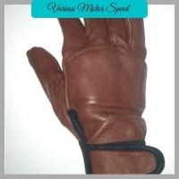 Sarung Tangan motor bahan kulit asli untuk cewe/cowo VMS