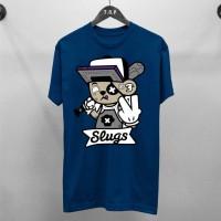T-Shirt Slugs / Baju Kaos Distro Pria & Wanita / Cotton 30s