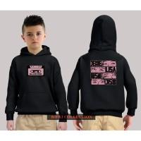 hoodie sweater anak black pink - high quality 06